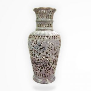 White Marble Flower Vase - The Handicraft Shop