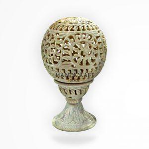 Marble White Showpiece - The Handicraft Shop
