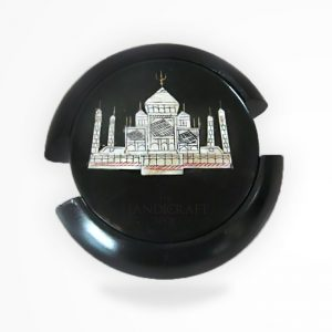 Black Marble Coaster Set - The Handicraft Shop