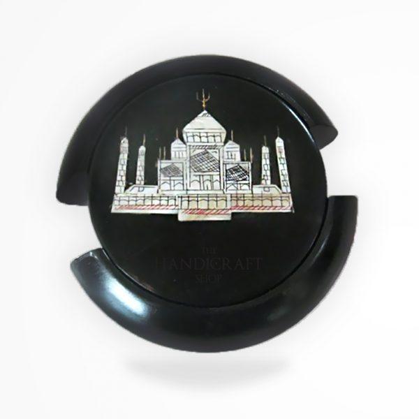 Black Marble Coaster Set - The Handicraft Shop