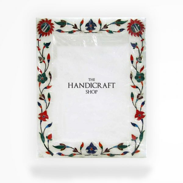 White Marble Photo Frame - The Handicraft Shop