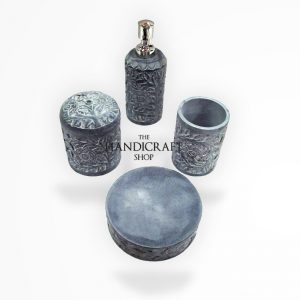 Marble Set Bathroom Accessories - The Handicraft Shop