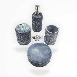 Marble Set Bathroom Accessories - The Handicraft Shop
