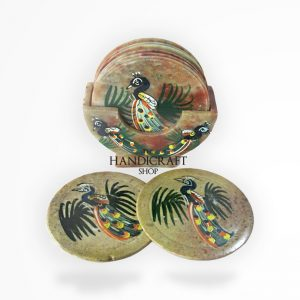 White Marble Coaster Set - The Handicraft Shop