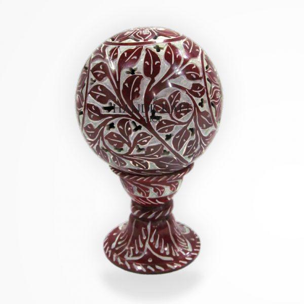 Marble Red Showpiece - The Handicraft Shop